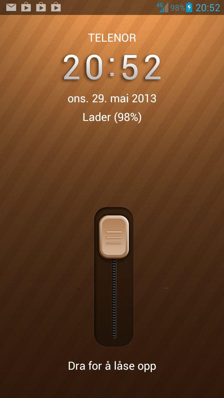 Du kan velge mellom en haug ulike låseskjermer. Hva med denne?Foto: Finn Jarle Kvalheim, Amobil.no