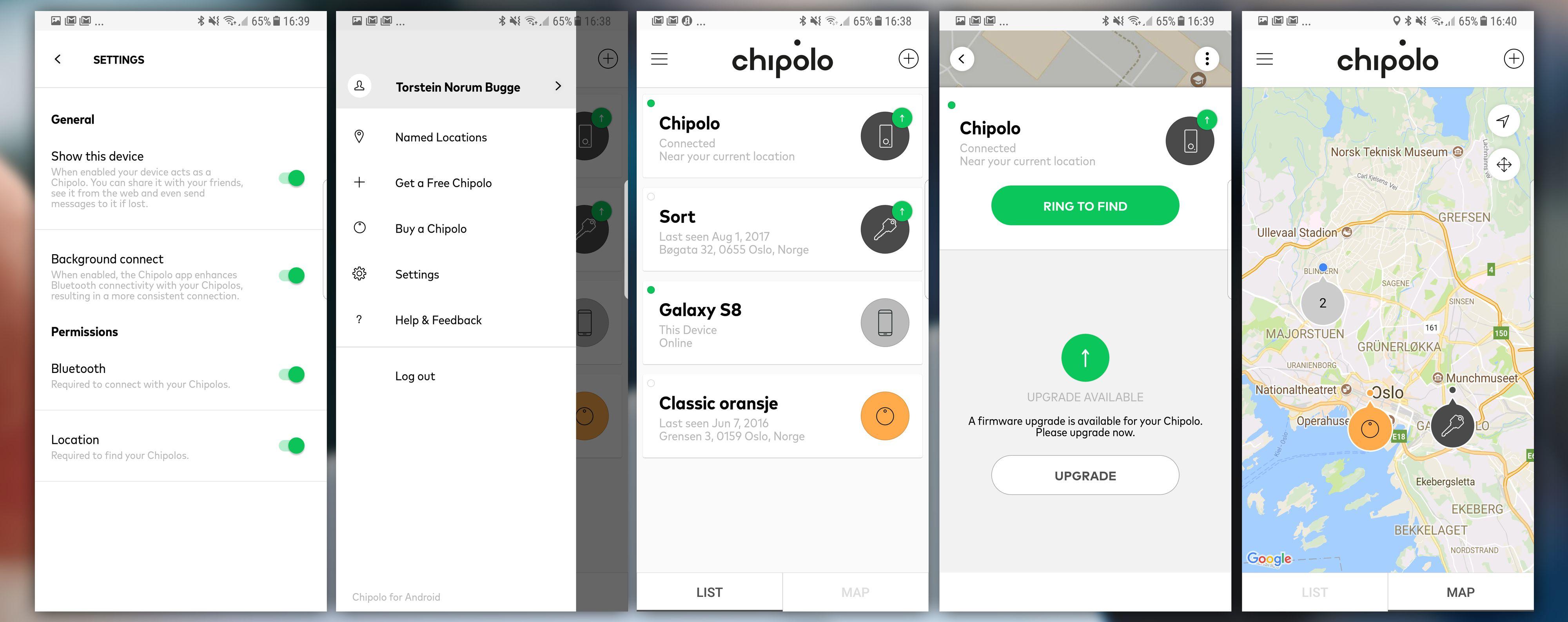 Chipolo-appen fungerer supert.