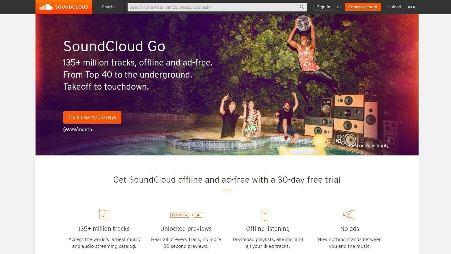 SoundCloud byr på 135 millioner låter og tilbyr en abonnementsbasert strømmetjeneste.