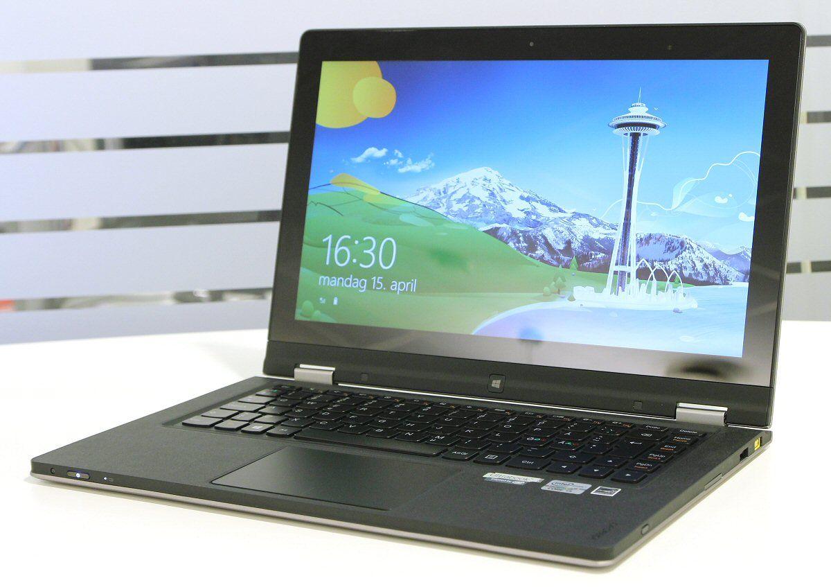 Yoga 13 som vanlig bærbar PC.Foto: Vegar Jansen, Hardware.no