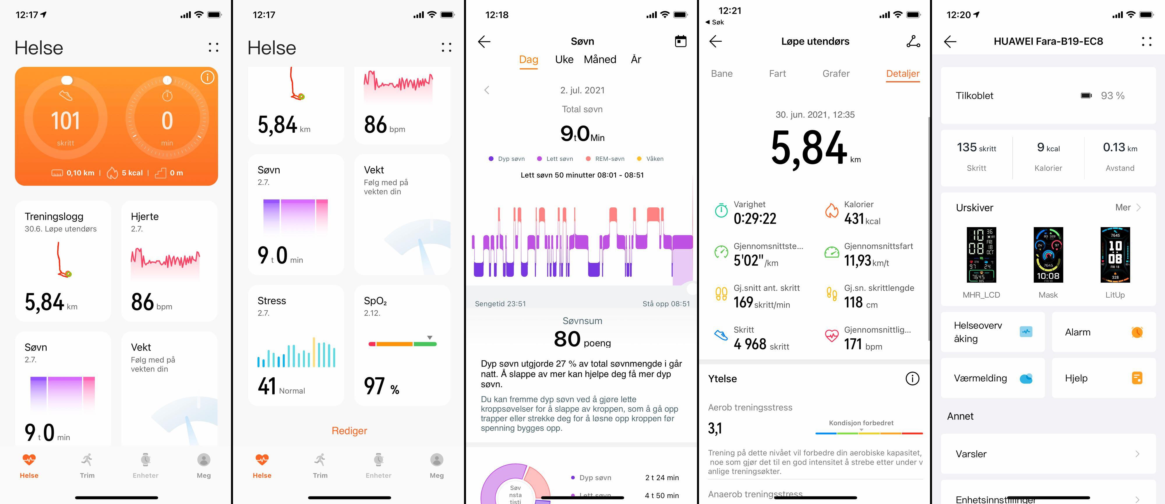 Huawei Health-appen.