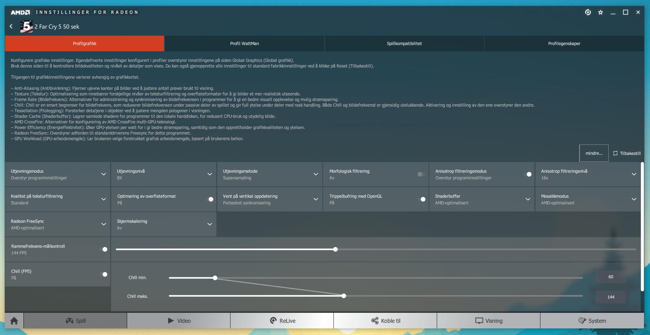 Radeon Settings gir AMD-eiere flere muligheter for å justere bildeflyten enn Nvidias kontrollpanel gir GTX-eiere.