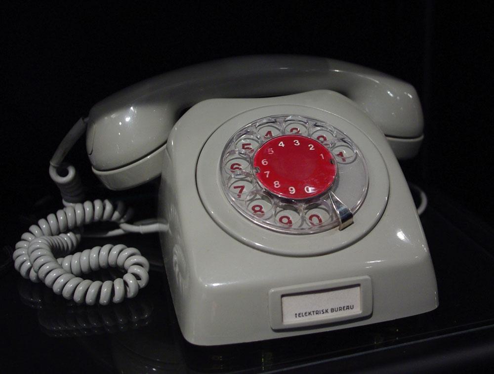 Mange husker nok denne, fra da telefonen hadde begynt å bli utbredt blant vanlige arbeidsfolk.