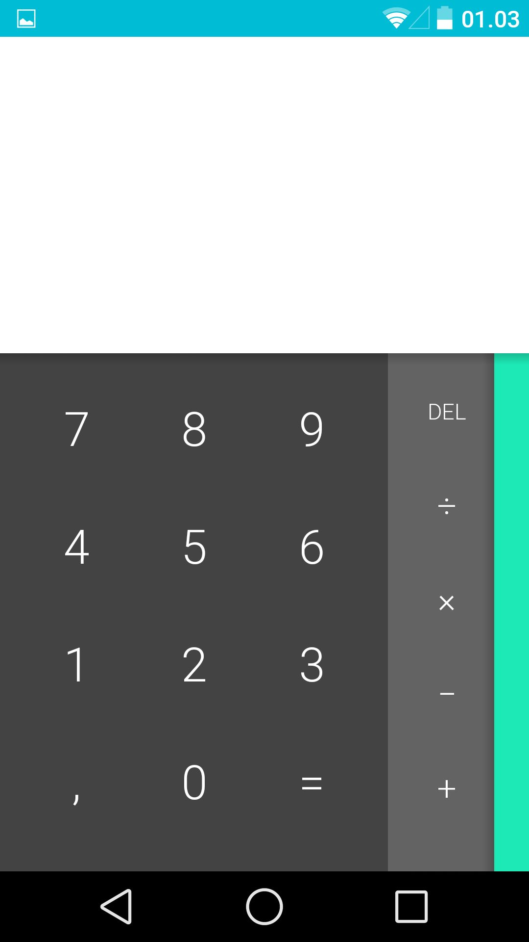 Kalkulatoren er ny i Android L. Her er avanserte valg langt mer tilgjengelige.