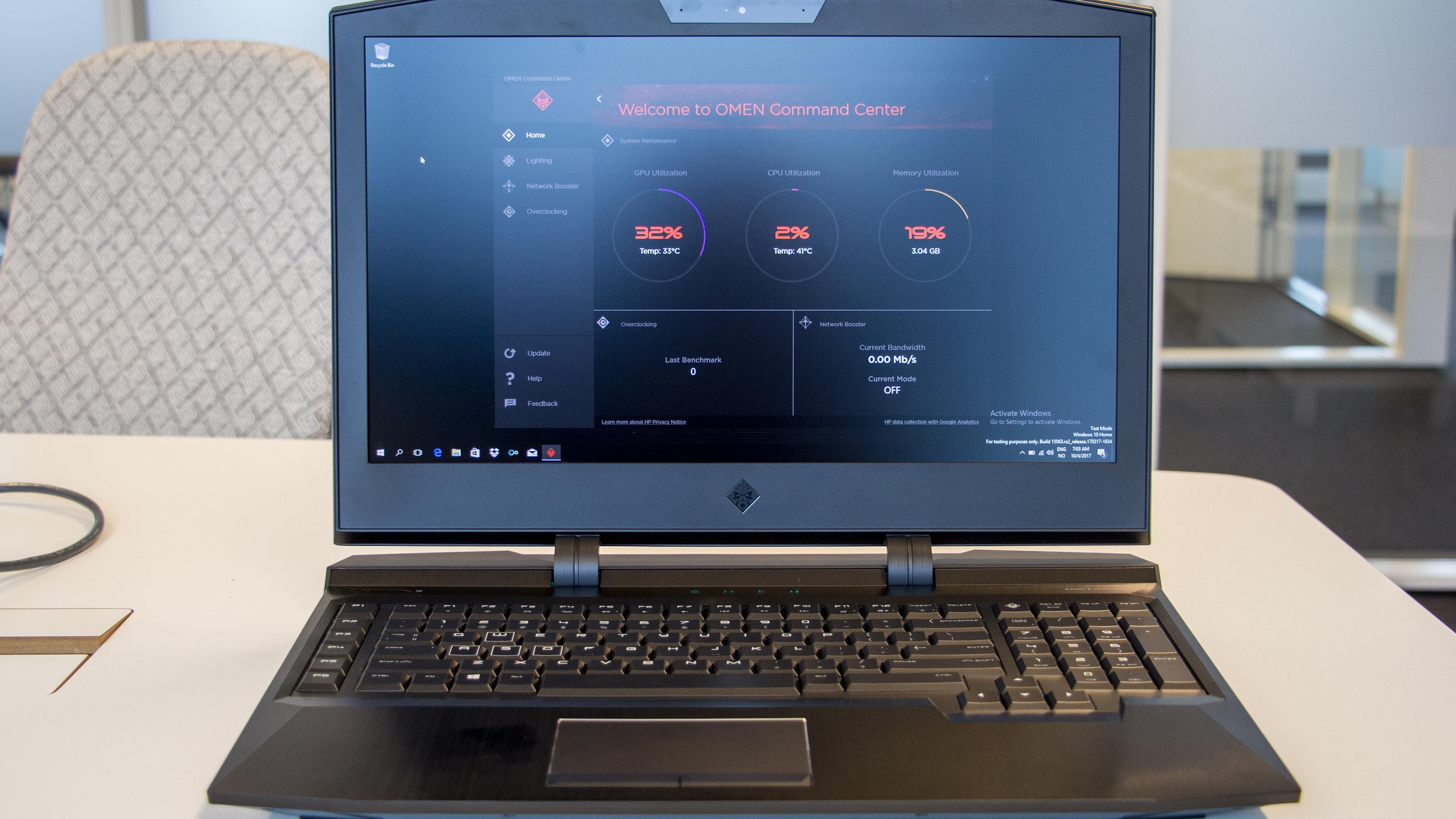 HPs heftige spillbærbare kjører 4K og kan overklokkes