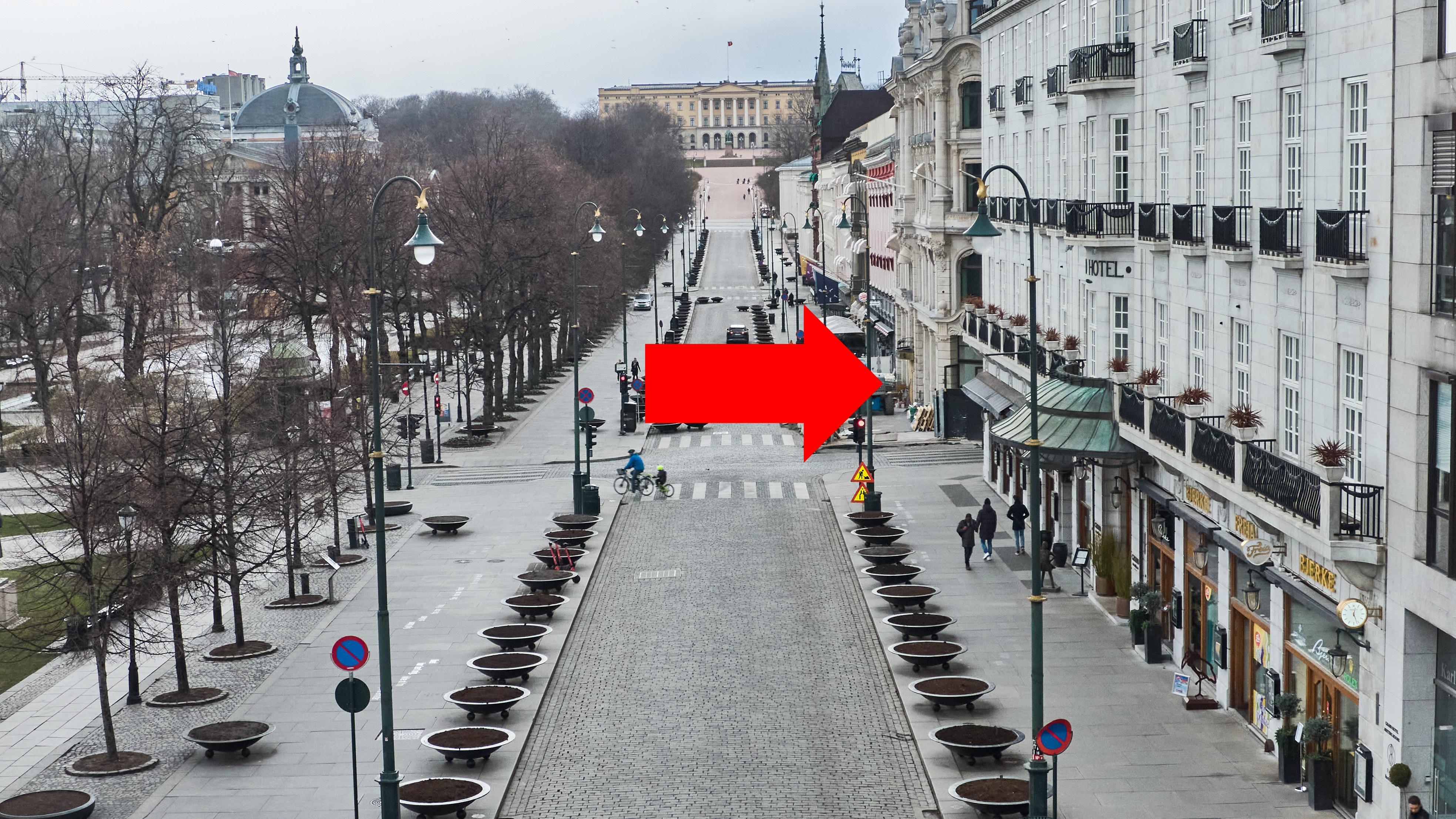 Det er her, på hjørnet vis-a-vis Grand Hotell, at Nio skal etablere seg i Oslo.