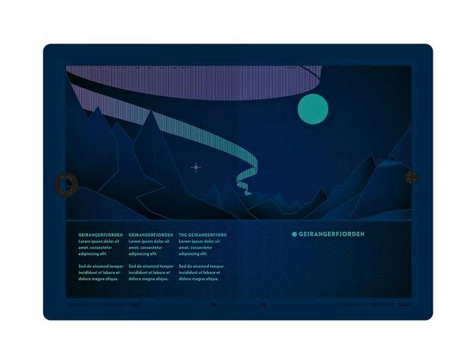 Legger du passet under et blacklight, eller UV-lys, forvandles hele landskapet.Foto: Neue Design Studio
