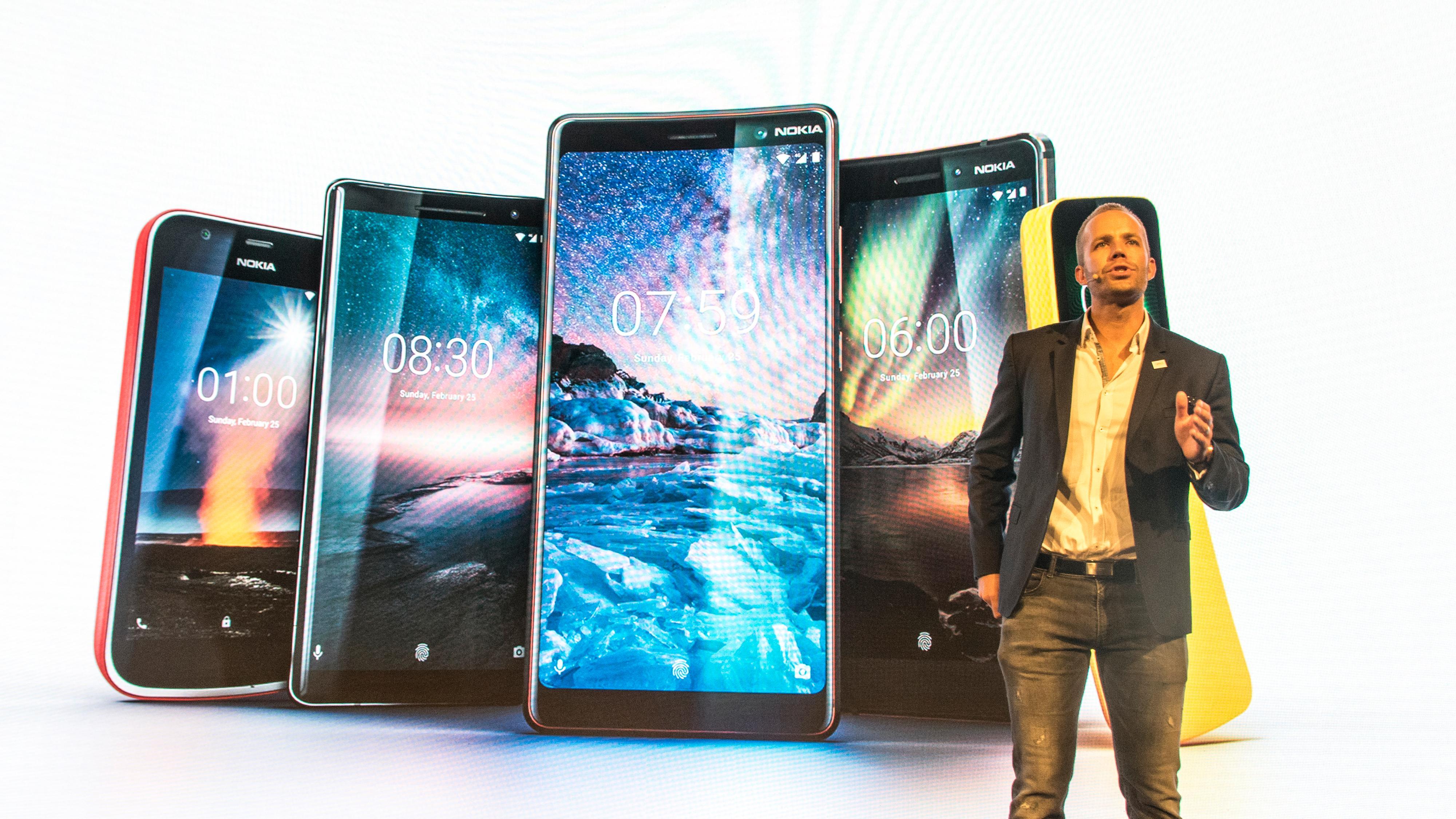 Nokia gikk bananas i Barcelona – lanserte fem mobiler på tre kvarter