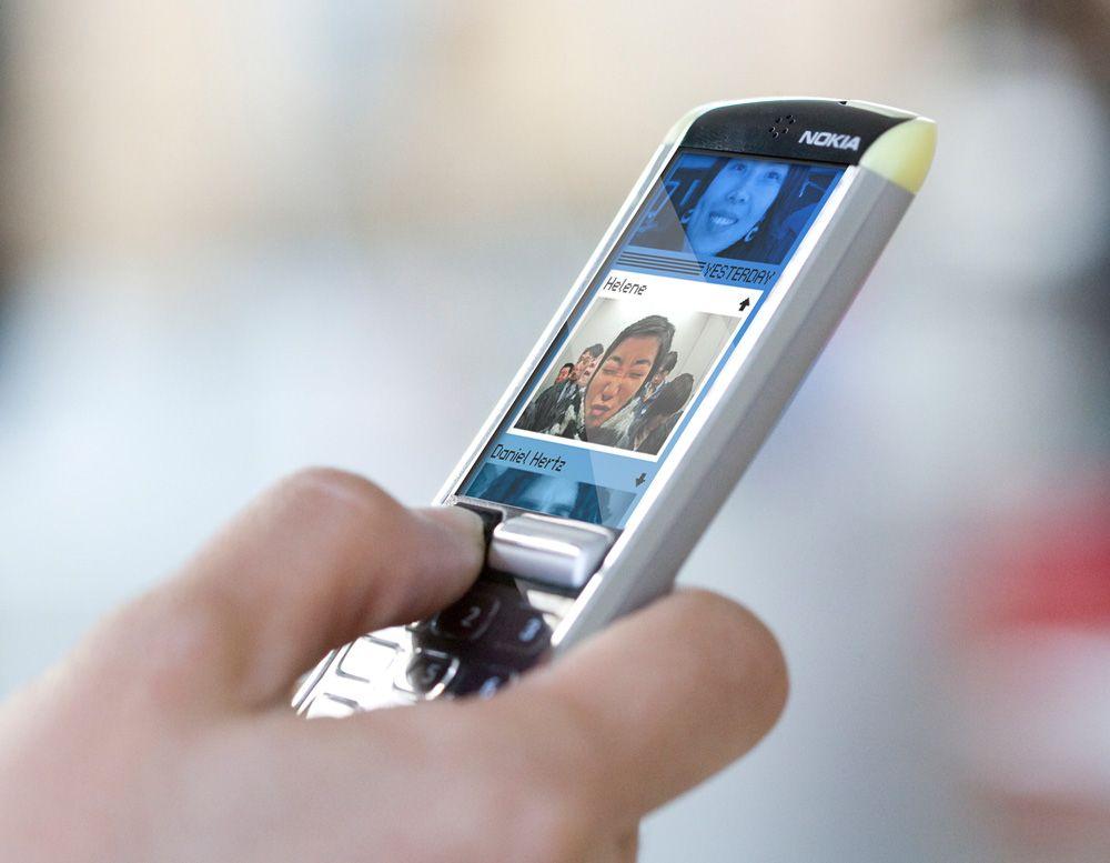Nokia ser ut til å pønske på noe. Bildet viser en av selskapets konsepttelefoner. (Foto: Nokia)
