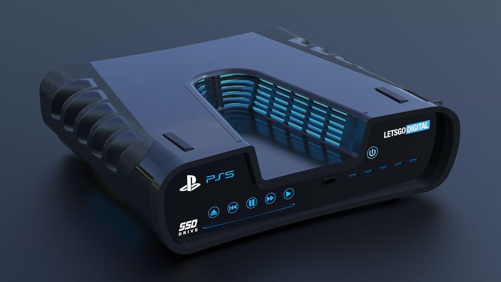 Omtrent slik ser utviklerversjonen av Playstation 5 ut. Det endelige designet er ikke offentliggjort ennå.