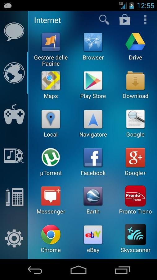 Slik kan appmenyen se ut med Smart Launcher installert.Foto: GinLemon