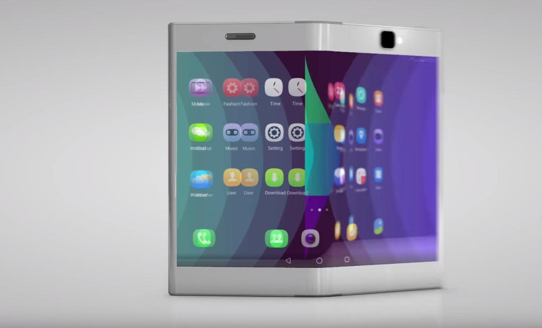 Lenovo viste også frem et nettbrett som kan foldes sammen til en mobil.