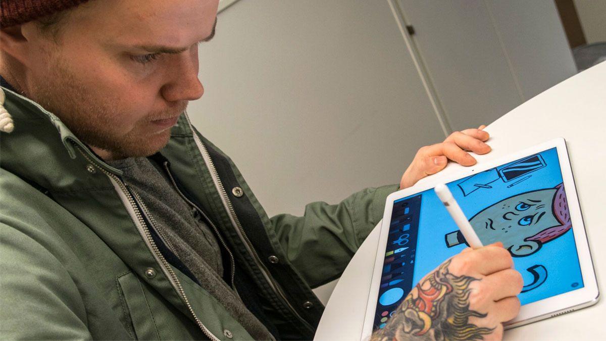 Apple Pencil kom i 2015. Før det var det en hel liten industri som levde av å lage penner og tegneapper for iPad-produktene. Siden er de fleste appene tilpasset Pencil. Bilde: Finn Jarle Kvalheim, Tek.no