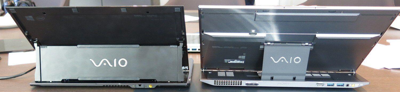 Gammel Duo til venstre. Nye Duo til høyre har flere kontakter bak og tynnere skjermfeste.Foto: Vegar Jansen, Hardware.no