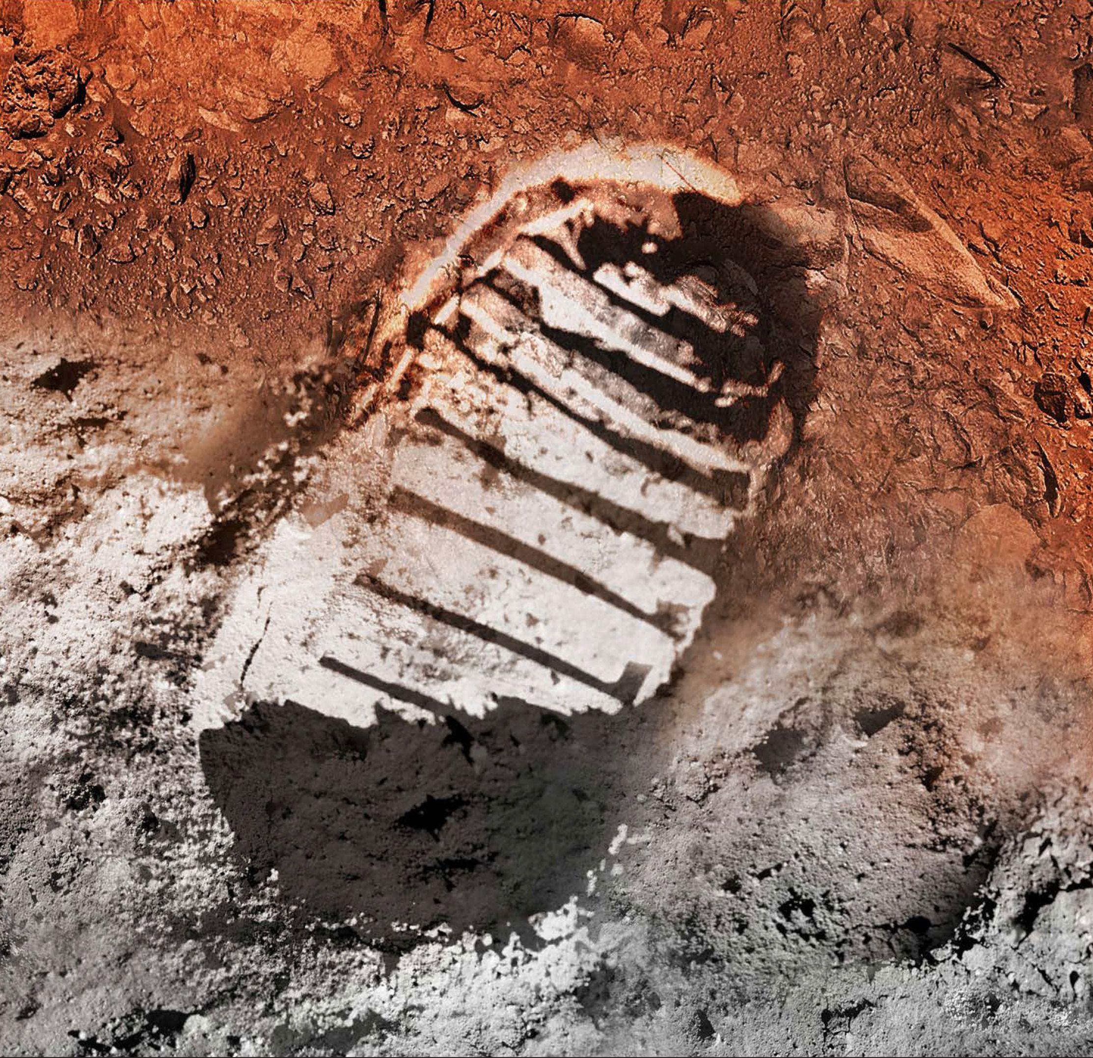 Fra Månen til Mars. Foto: NASA