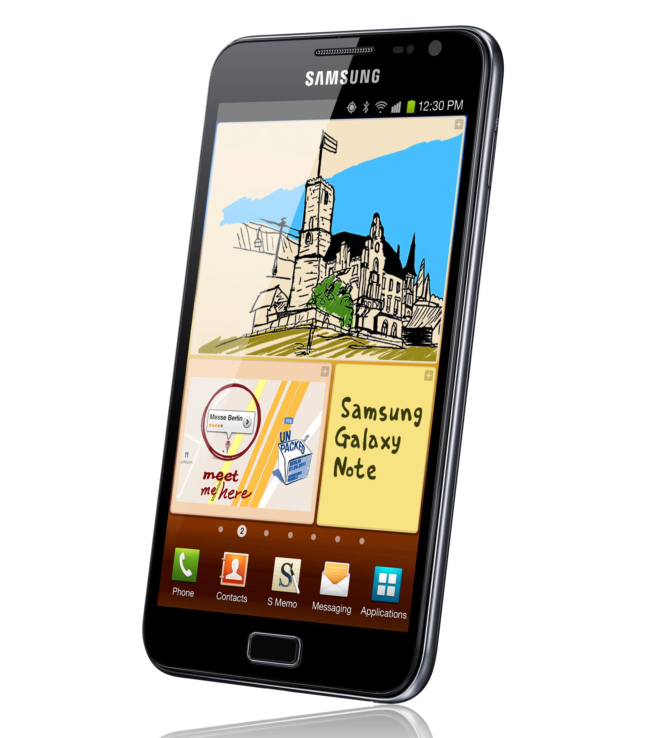 Også Samsung Galaxy Note ble brukt sammen med ACS T15.