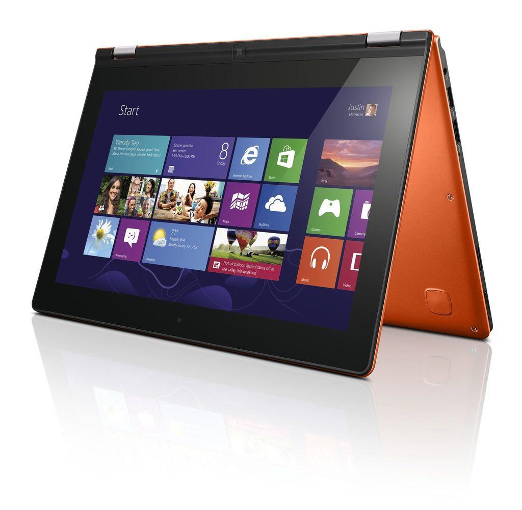 Lenovos Ideapad Yoga er et eksempel på en hybrid mellom nettbrett og bærbar PC.Foto: Lenovo