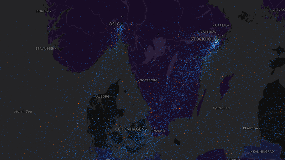 Skandinavia er også i høyeste grad representert.