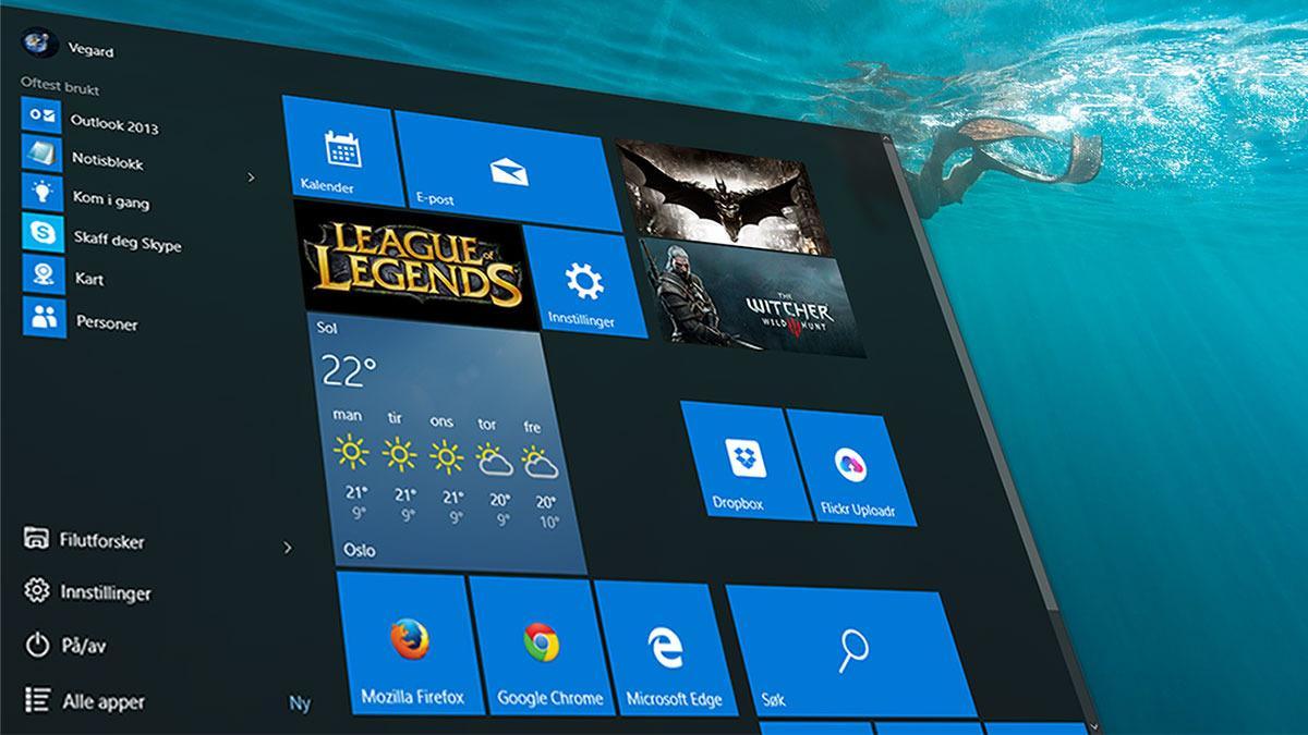 Windows 10 leter etter pirat-spill på PC-en din