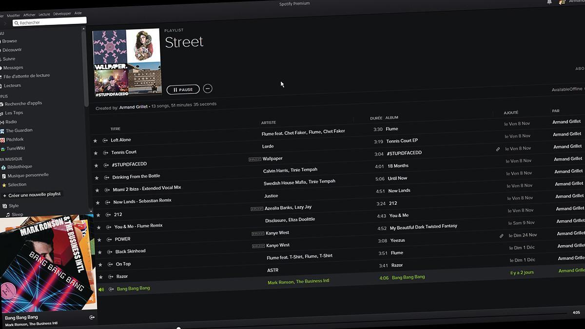 Spotify blir mørkere