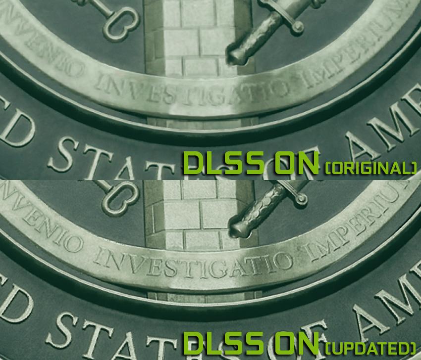 Zoomet inn på detaljer i «Control» med DLSS og DLSS 2.0.