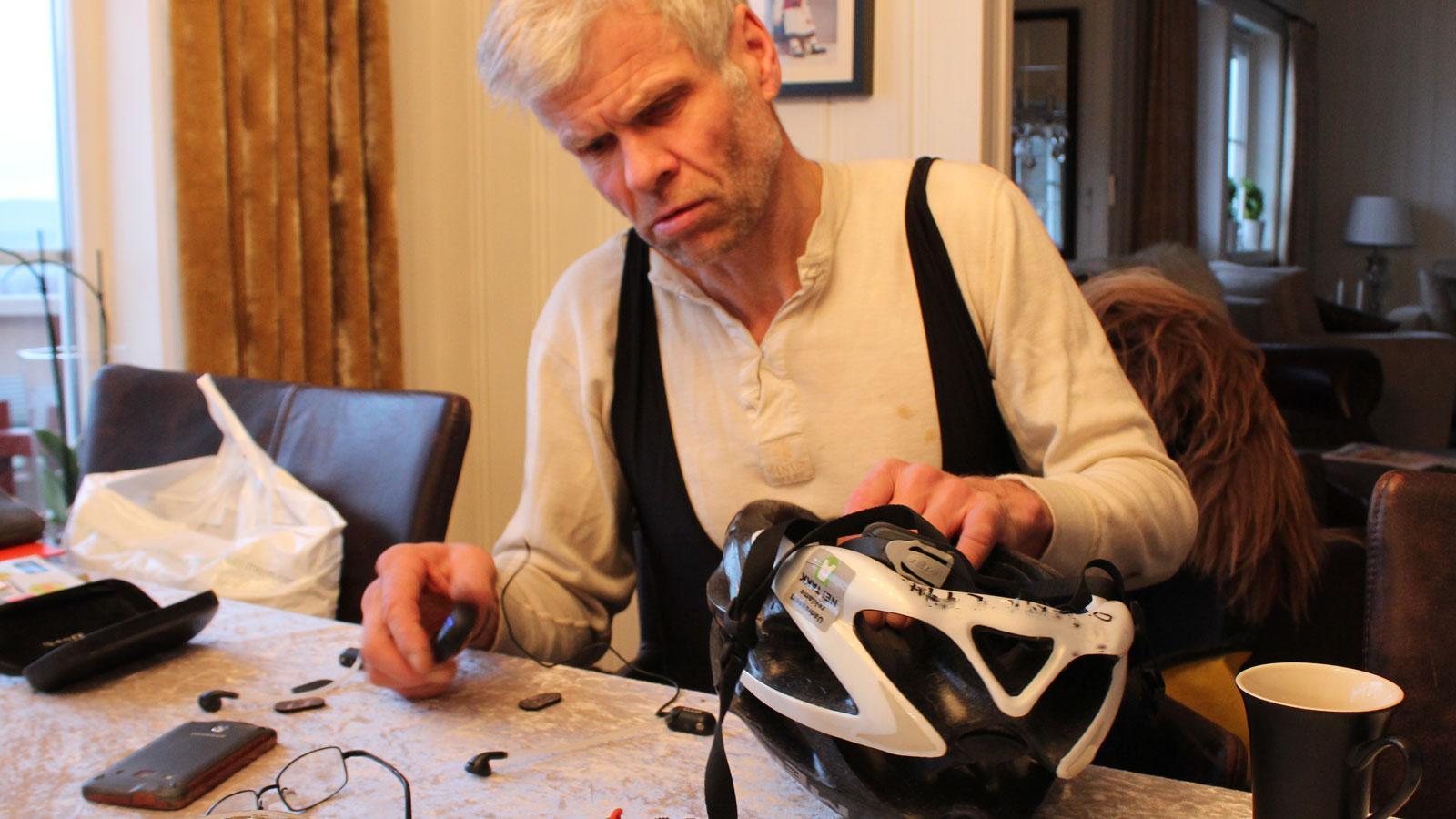Leif Kagge bruker sykkel hele året, og synes håndfrisettet fra Uclear fungerer som det skal.Foto: Espen Irwing Swang, Amobil.no