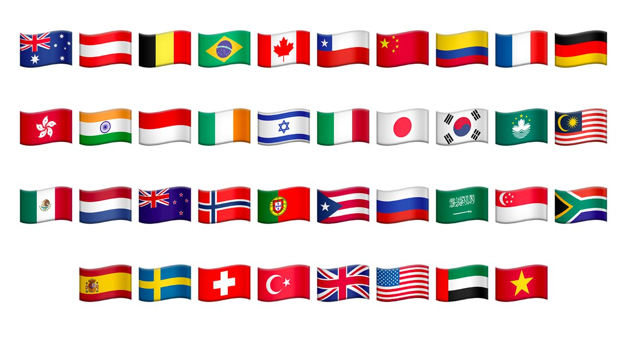 De 27 nye Unicode-flaggene. (Foto: Unicode)