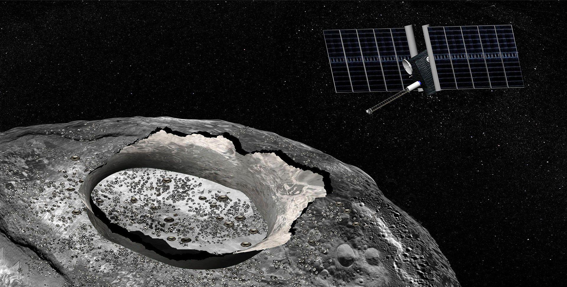 Konseptbilde av ekspedisjonen til 16 Psyche. Foto: NASA/JPL-Caltech