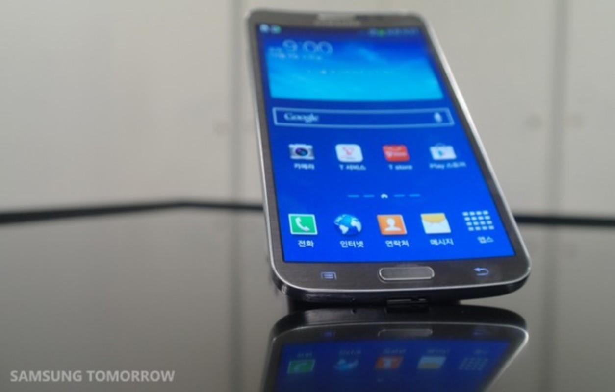 Det er Samsungs velkjente Touch Wiz-menyer som kjører på Galaxy Round.Foto: Samsung
