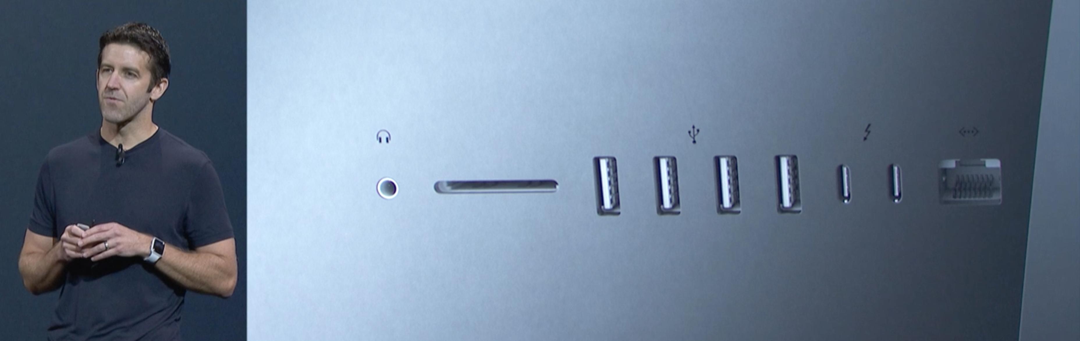 Nå får du to USB Type-C-porter bak.