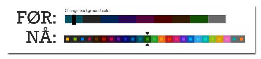 Microsoft har lagt inn langt flere fargetemaer å velge imellom i Release Preview-versjonen av Windows 8.Foto: Hardware.no