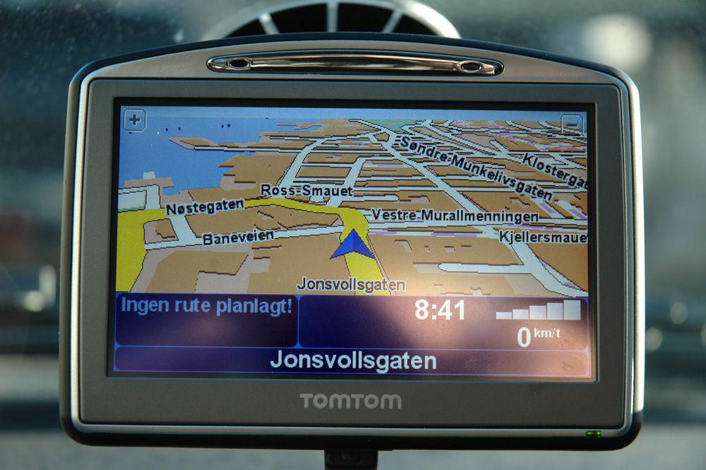 Kartene i Go 720 er oversiktlige og greie. (Alle foto: Einar Eriksen)