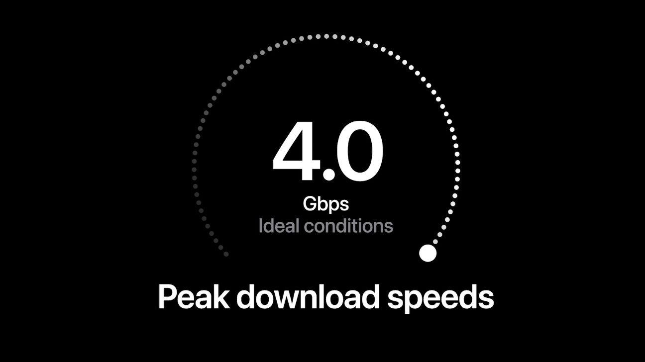 Sjefen for den amerikanske mobiloperatøren Verizon, svenske Hans Vestberg, skryter av den voldsomme hastigheten i 5G-nettet deres.