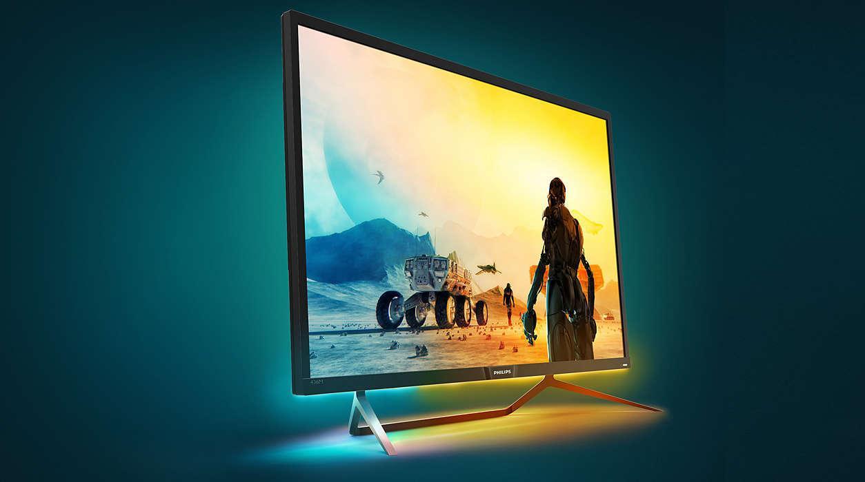 Philips' nye 4K-skjerm har ekstrem lysstyrke og masse farger