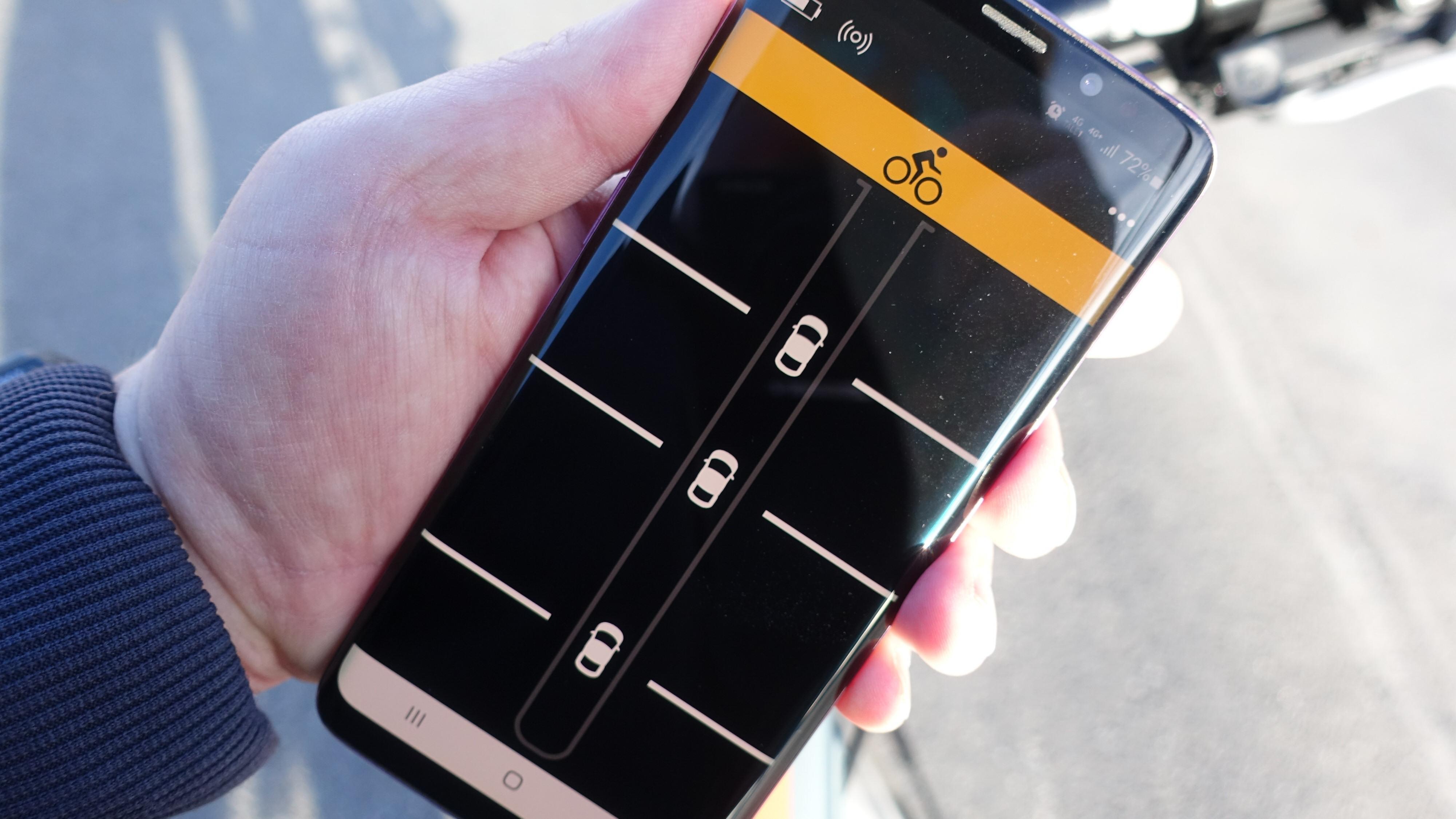 Varia-appen kjørende på Android.