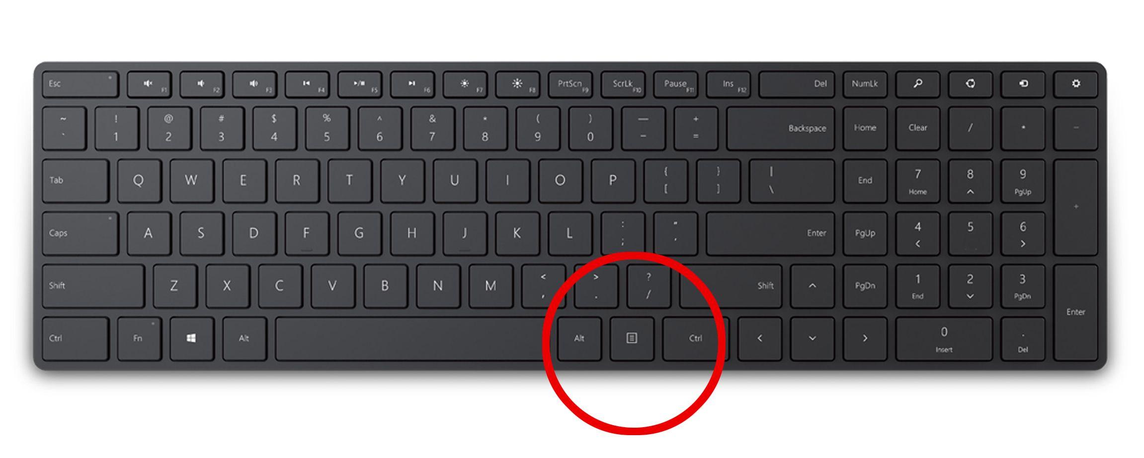 Har du tenkt over menyknappen på tastaturet ditt?
