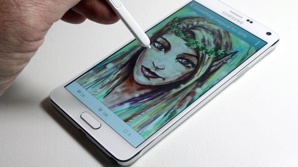 Tegninger du tegner på Note 4 kan deles med andre via appen Pen.up. Foto: Espen Irwing Swang, tek.no