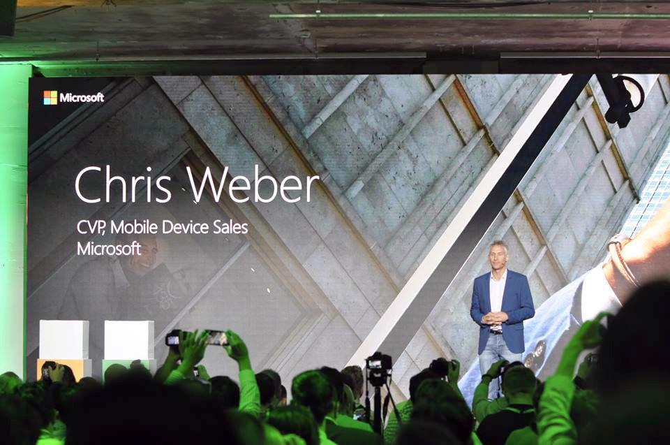 Chris Weber i Microsoft presenterte de nye Lumia-mobilene. .Foto: Finn Jarle Kvalheim, Tek.no
