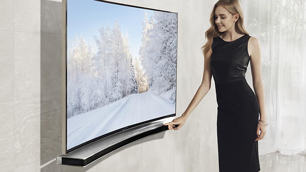 Samsung har tidligere til og med lansert en lydplanke spesifikt designet for kurvede TV-er.
