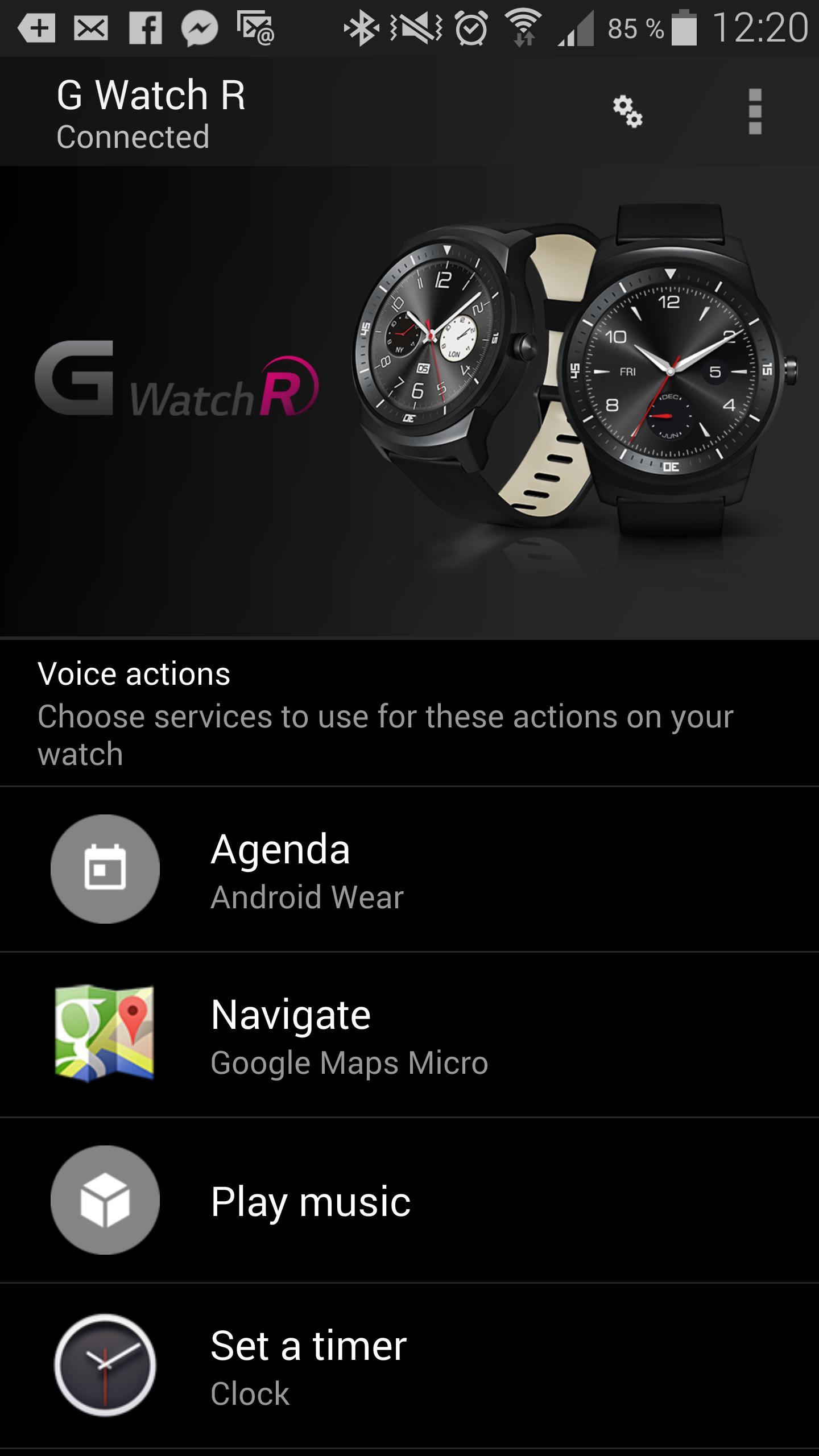 Du må installere Android Wear på telefonen for å få klokken og mobilen til å snakke med hverandre.