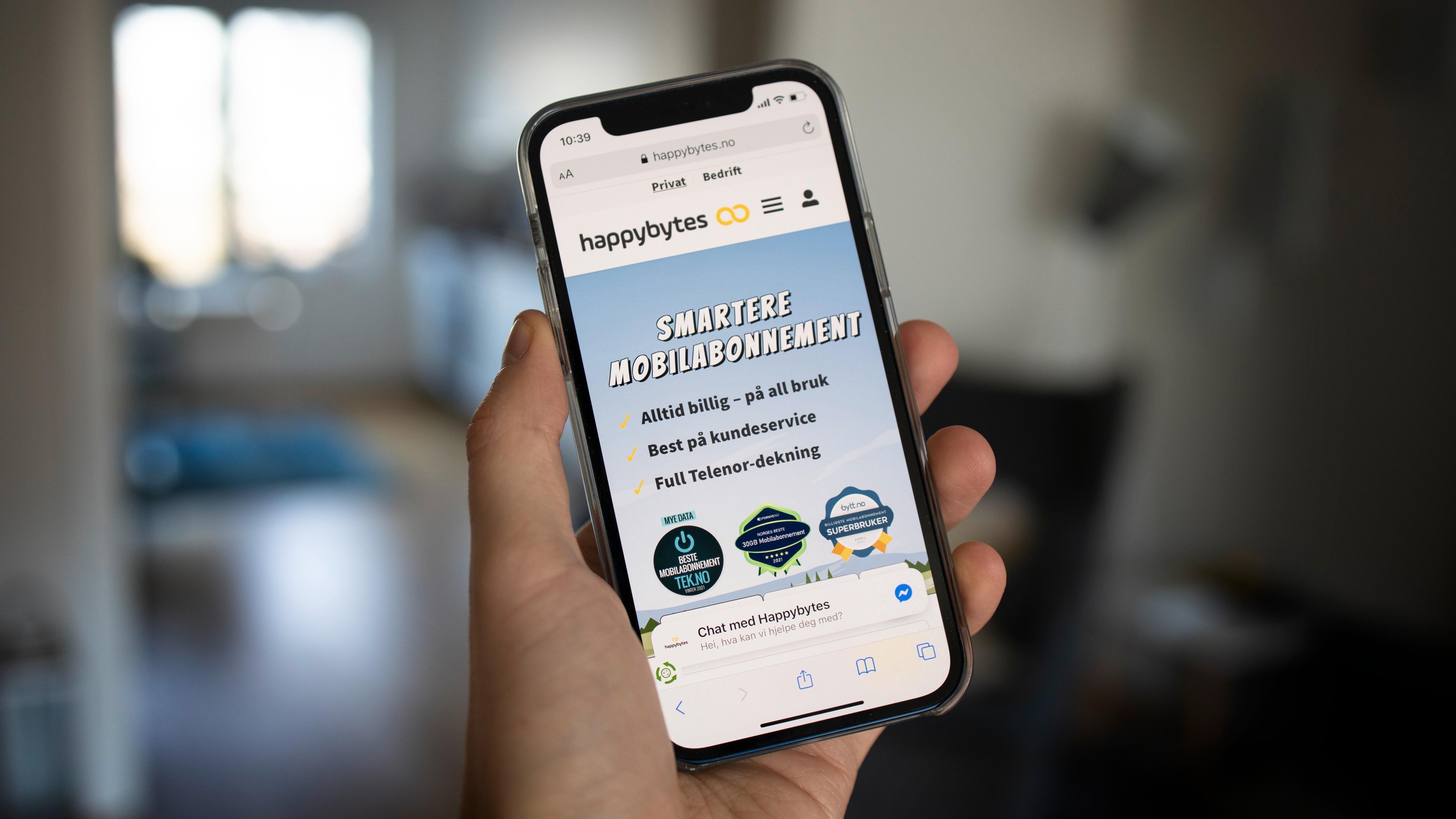 Happybytes lanserer nye mobilabonnementer, blir billigst i én kategori