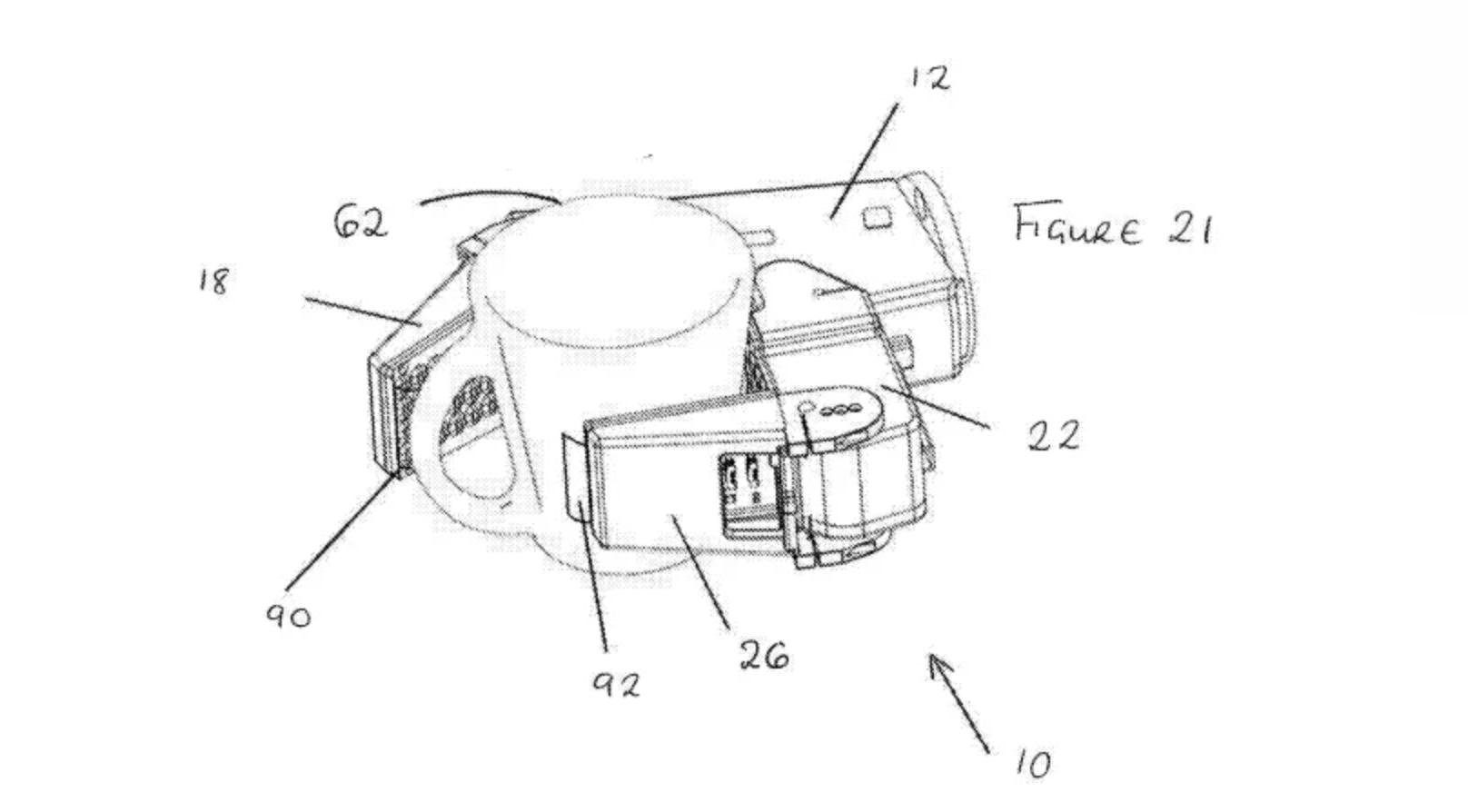 Denne tegningen viser en robotarm som skal kunne ta tak i objekter. En kopp er kanskje ikke så nyttig i rengjøringsøyemed, men kanskje den også kan åpne dører?