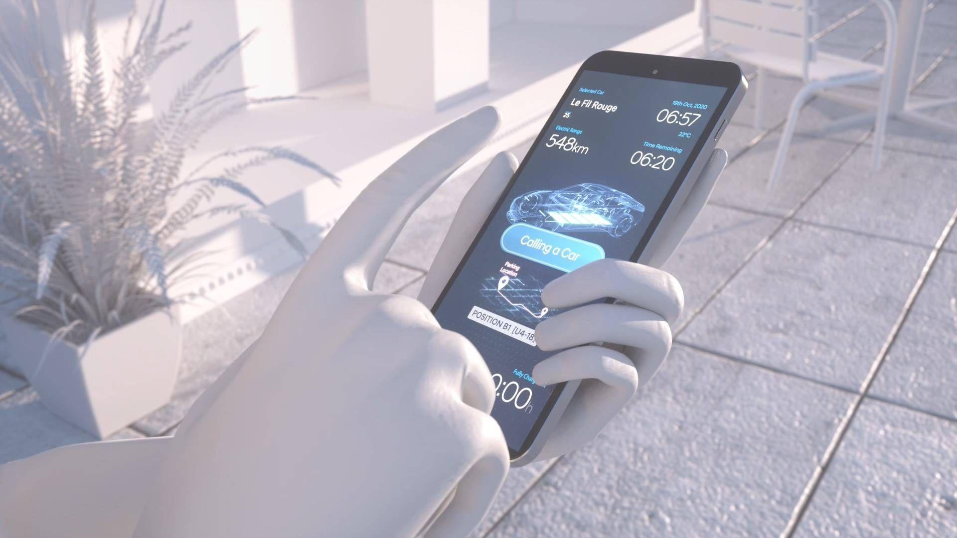 Du skal kunne sende bilen til å lade, og kalle den tilbake etterpå, med ett trykk på mobilen.