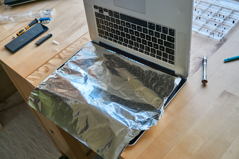 Sølvfolie som beskyttelse.