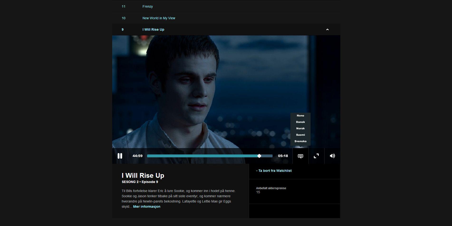 Du kan gå inn på hver serie og få opp en enkel oversikt over alle episodene.Foto: Hardware.no/HBO Nordic