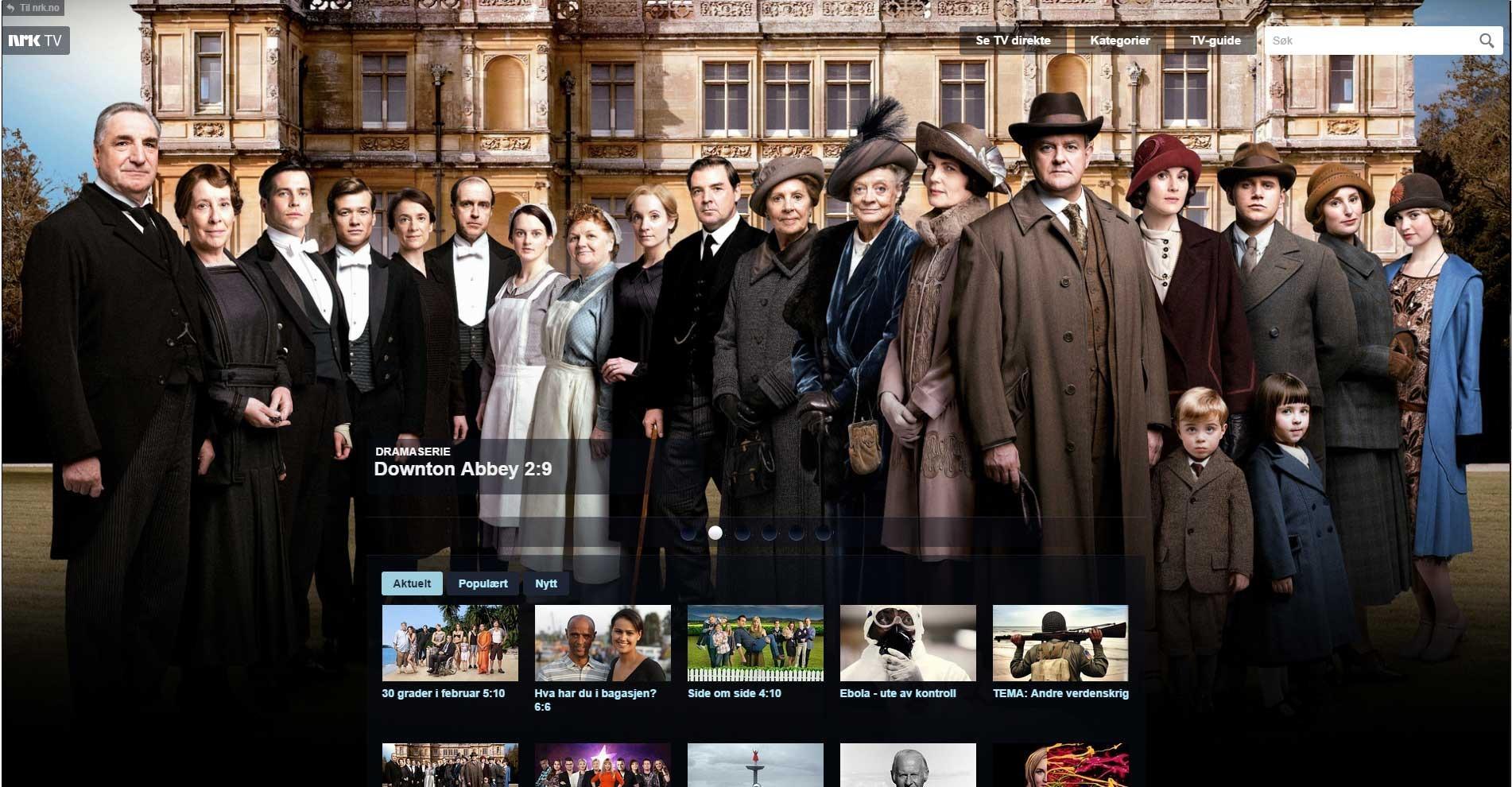 NRK, skjermdump 7.10.2014.