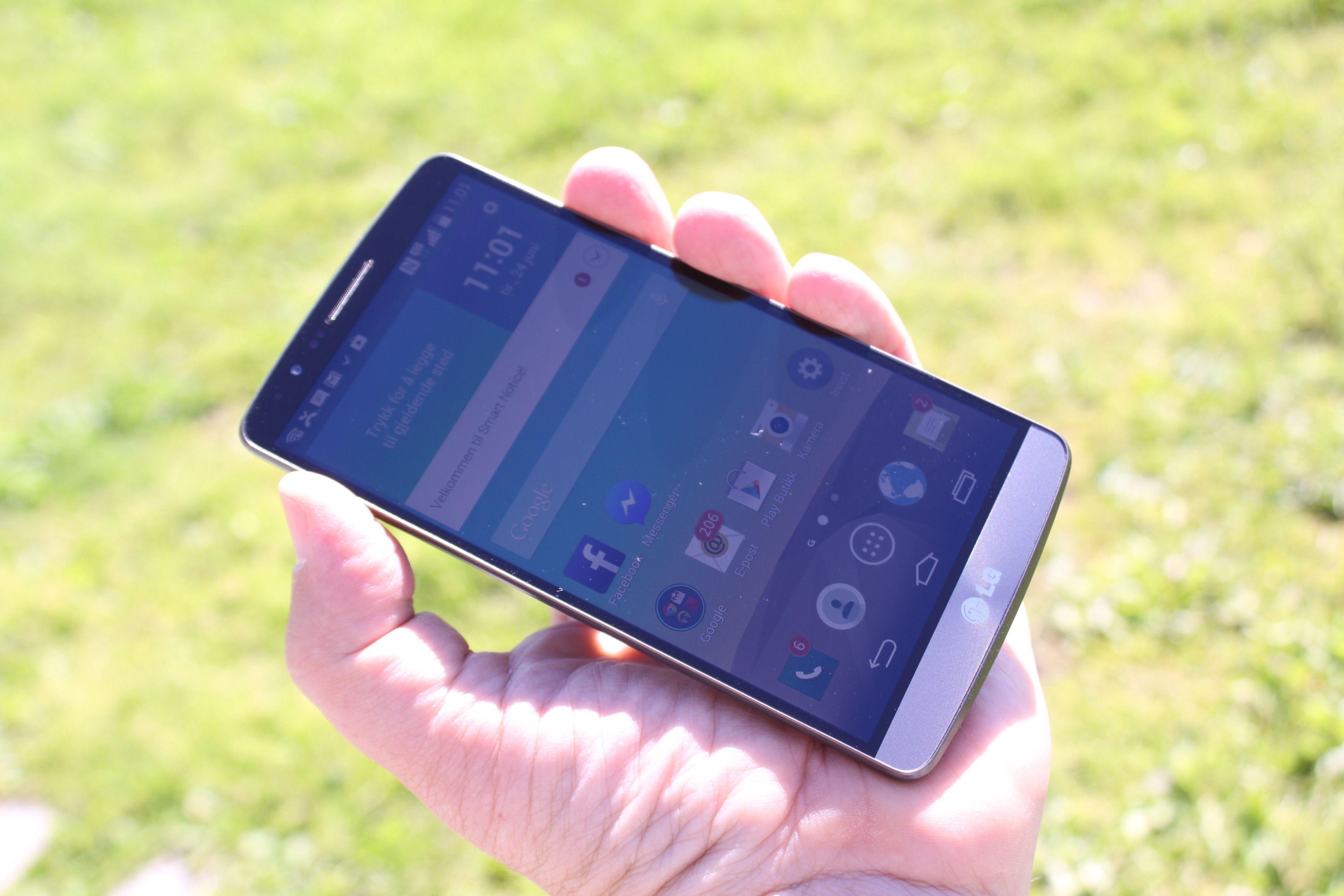 Skjermen i LG G3 er en av de beste vi har sett. Den er knivskarp og har god fargegjengivelse.Foto: Espen Irwing Swang, Amobil.no