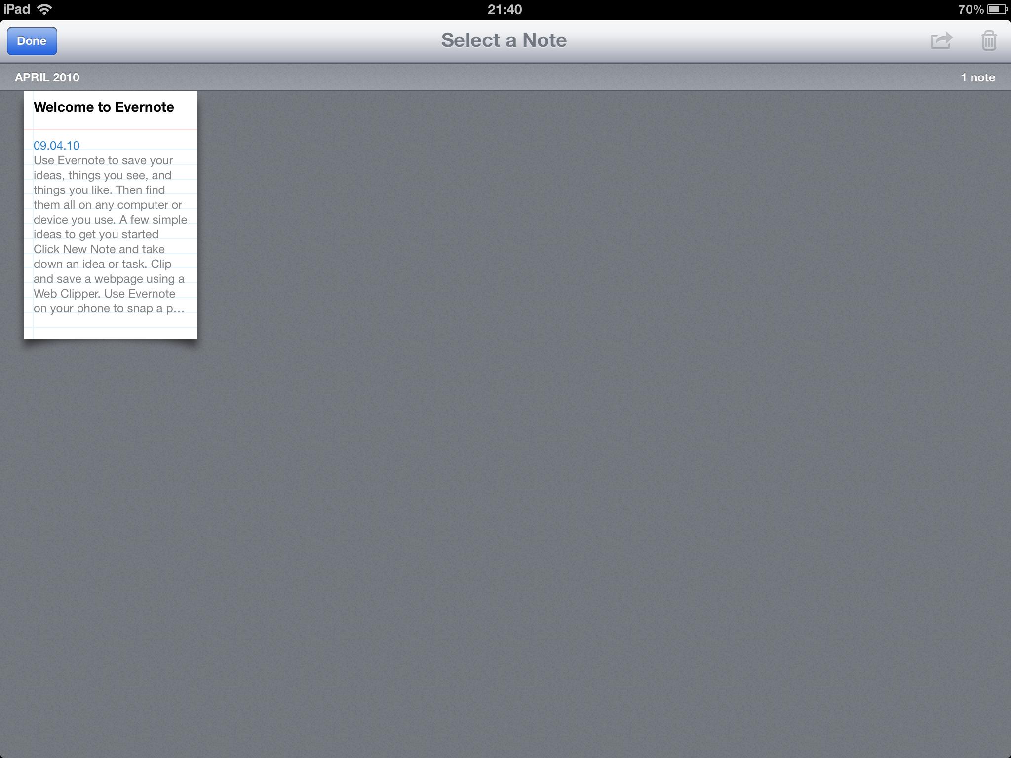 Også nytteapper som Evernote passer nå den nye oppløsningen.