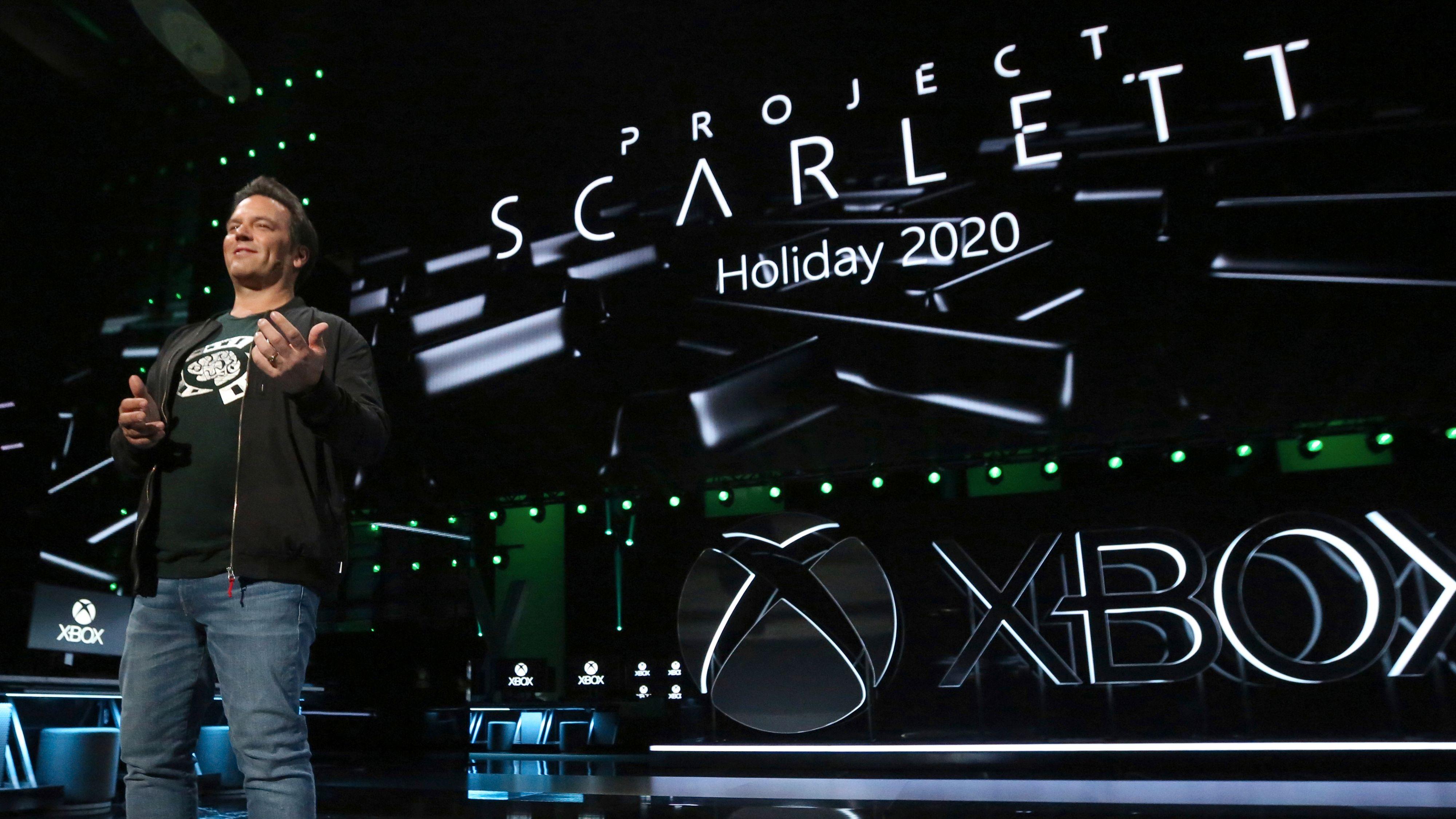 Xbox-sjef Phil Spencer under presentasjonen av Project Scarlett på årets E3-messe.
