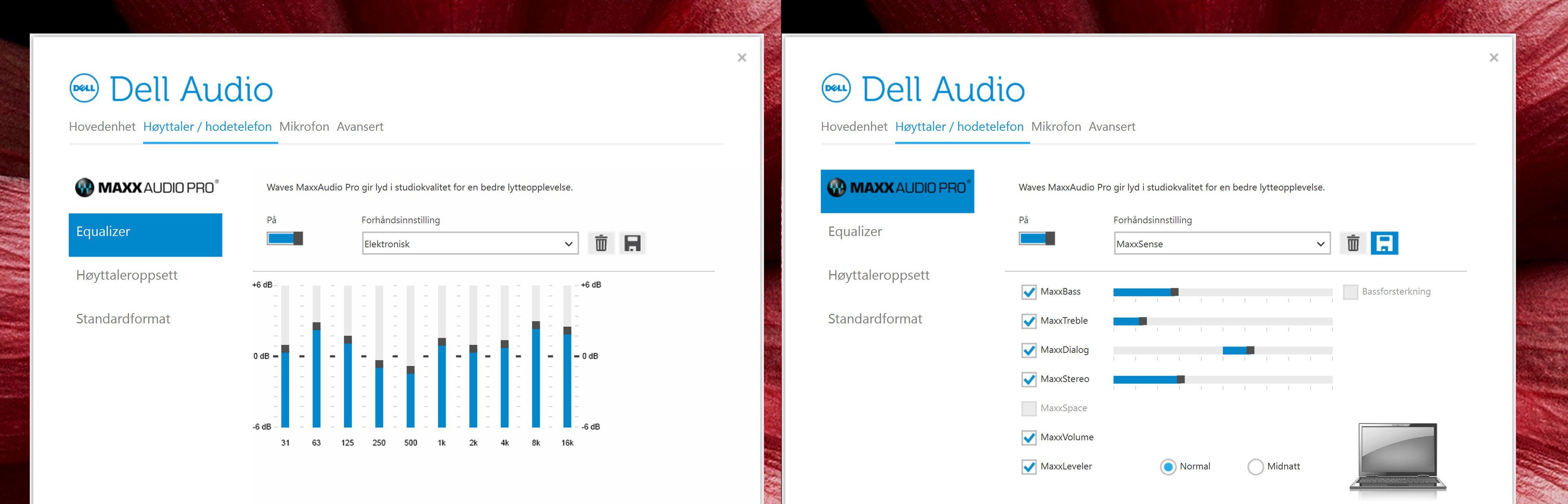 Dette programmet gir deg mulighet til å finstille lyden for Dells XPS 15.